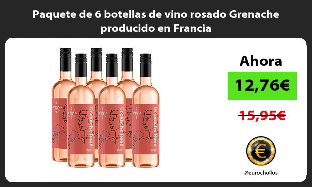 Paquete de 6 botellas de vino rosado Grenache producido en Francia