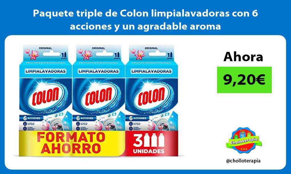 Paquete triple de Colon limpialavadoras con 6 acciones y un agradable aroma