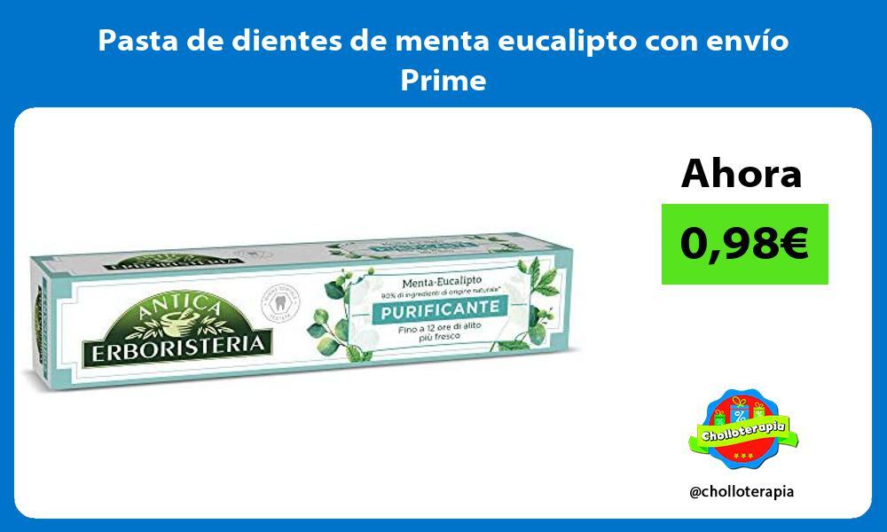 Pasta de dientes de menta eucalipto con envío Prime
