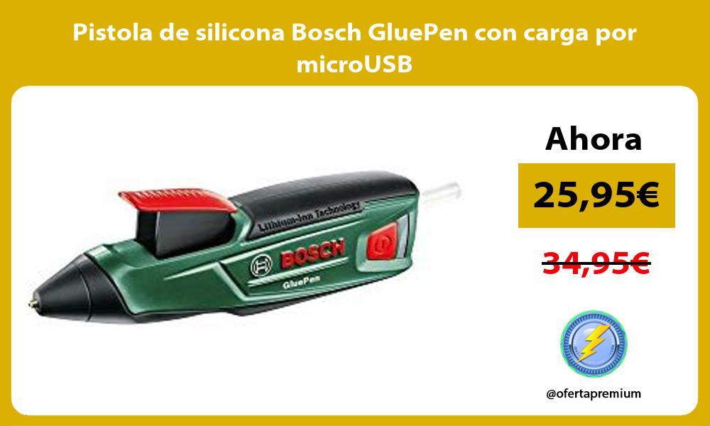 Pistola de silicona Bosch GluePen con carga por microUSB