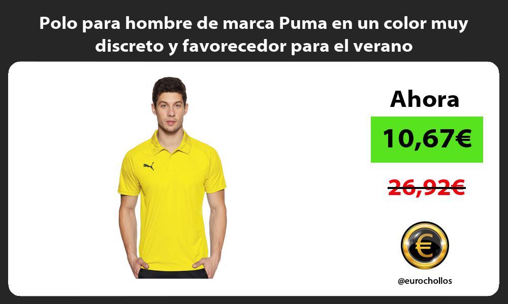 Polo para hombre de marca Puma en un color muy discreto y favorecedor para el verano