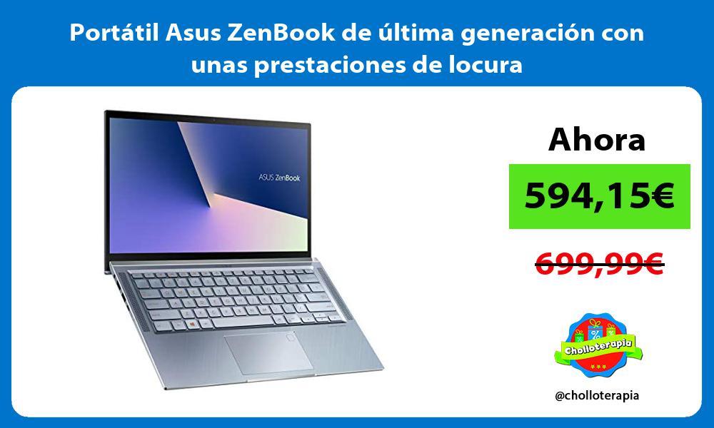 Portátil Asus ZenBook de última generación con unas prestaciones de locura