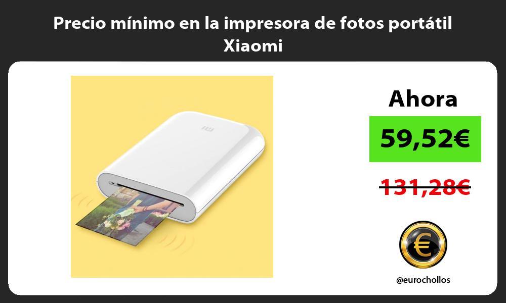 Precio mínimo en la impresora de fotos portátil Xiaomi