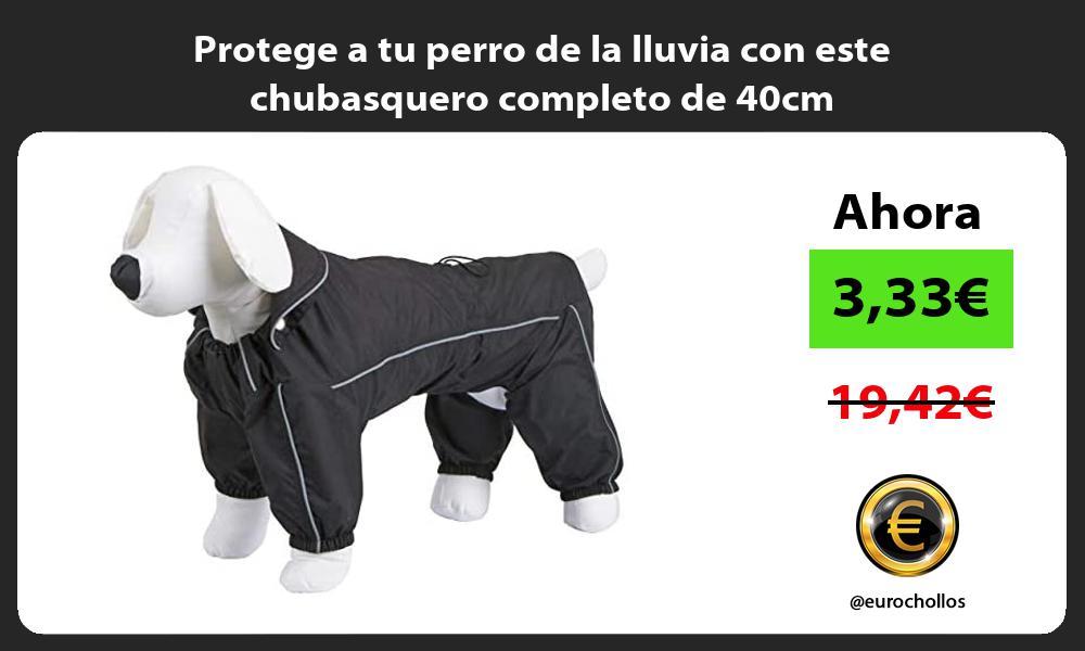 Protege a tu perro de la lluvia con este chubasquero completo de 40cm
