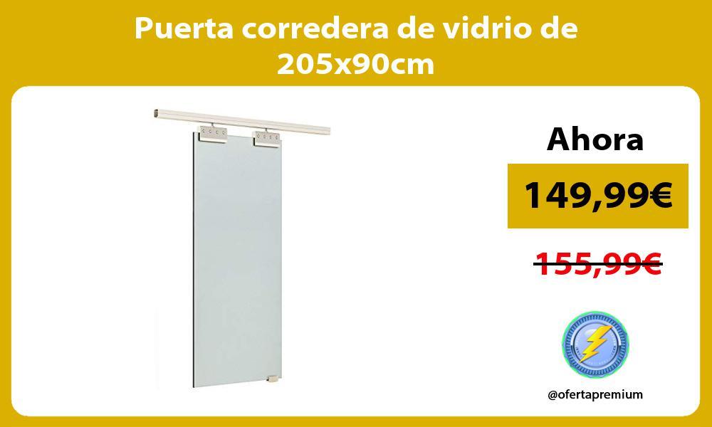 Puerta corredera de vidrio de 205x90cm