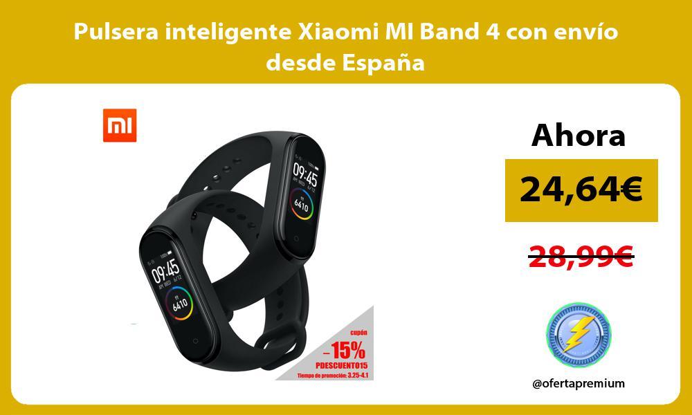 Pulsera inteligente Xiaomi MI Band 4 con envío desde España