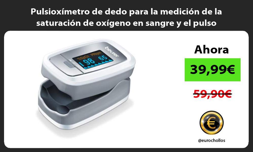 Pulsioxímetro de dedo para la medición de la saturación de oxígeno en sangre y el pulso