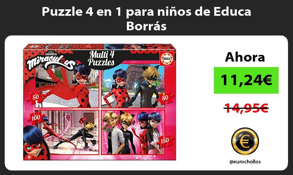 Puzzle 4 en 1 para niños de Educa Borrás
