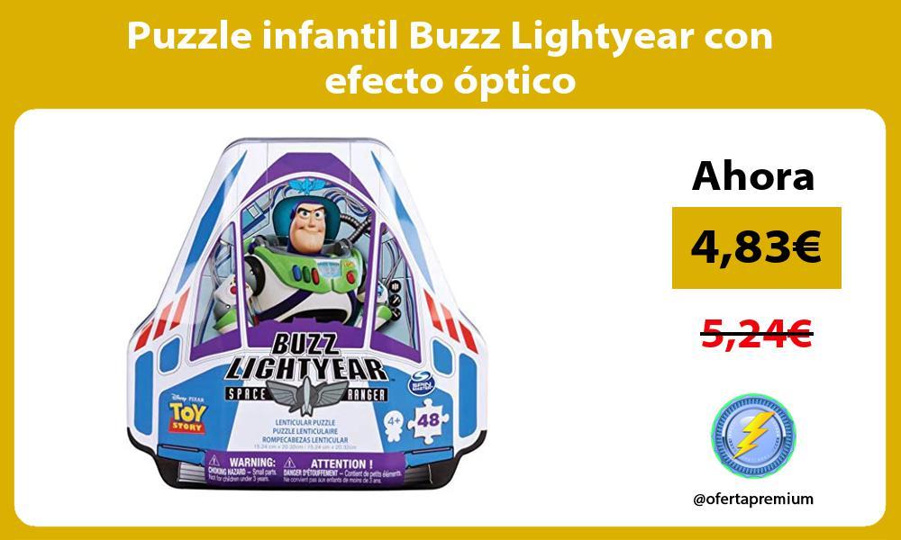 Puzzle infantil Buzz Lightyear con efecto óptico