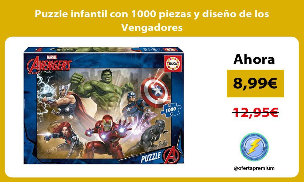 Puzzle infantil con 1000 piezas y diseño de los Vengadores