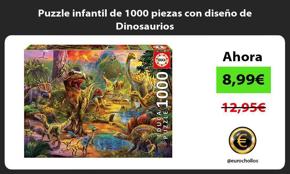 Puzzle infantil de 1000 piezas con diseño de Dinosaurios