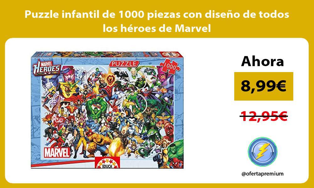 Puzzle infantil de 1000 piezas con diseño de todos los héroes de Marvel