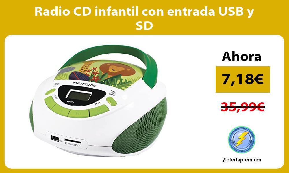 Radio CD infantil con entrada USB y SD