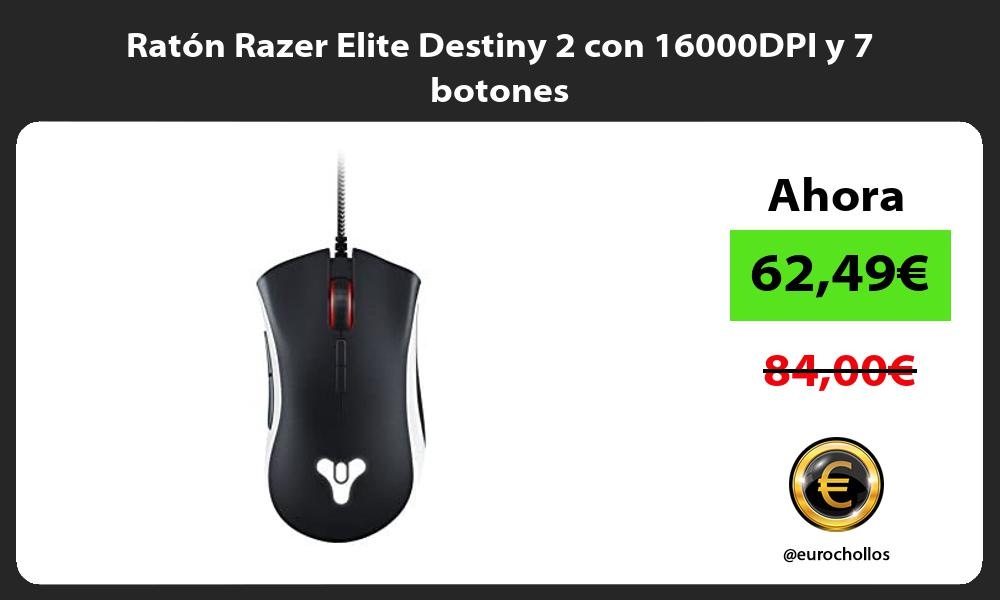 Ratón Razer Elite Destiny 2 con 16000DPI y 7 botones