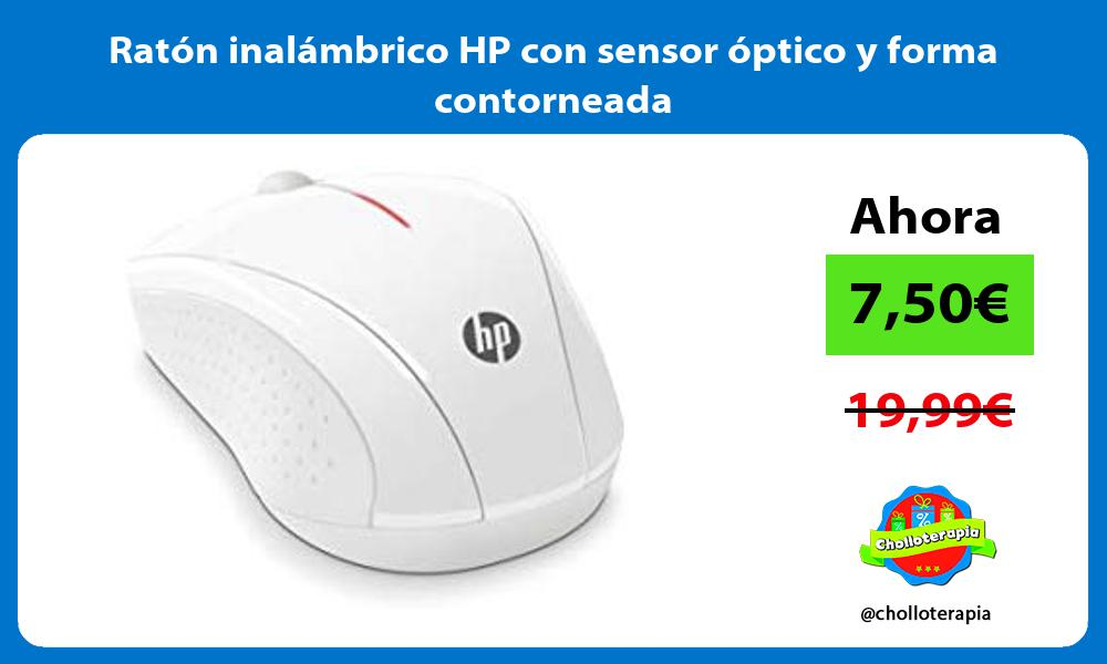 Ratón inalámbrico HP con sensor óptico y forma contorneada