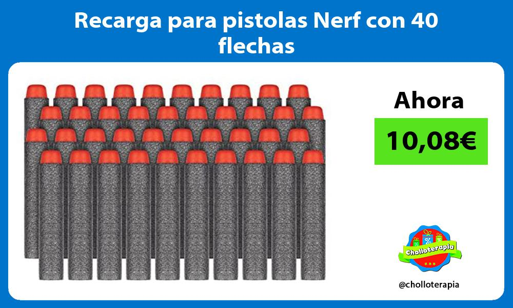 Recarga para pistolas Nerf con 40 flechas