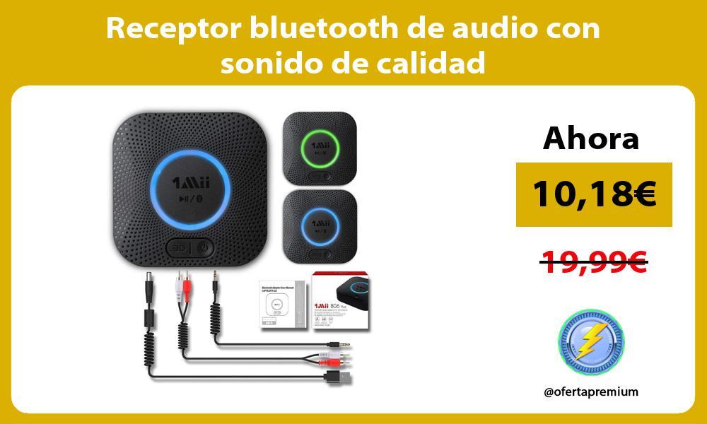 Receptor bluetooth de audio con sonido de calidad