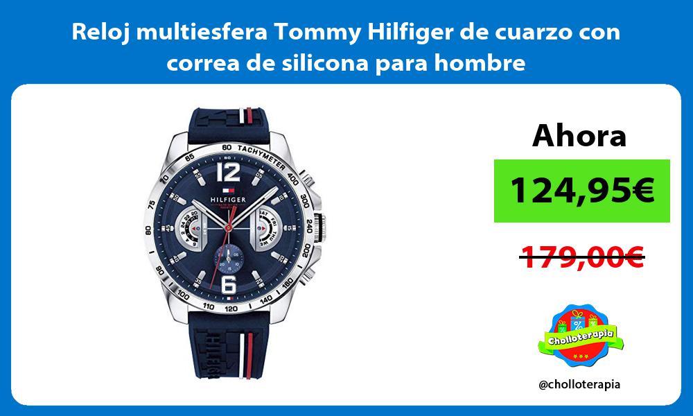 Reloj multiesfera Tommy Hilfiger de cuarzo con correa de silicona para hombre