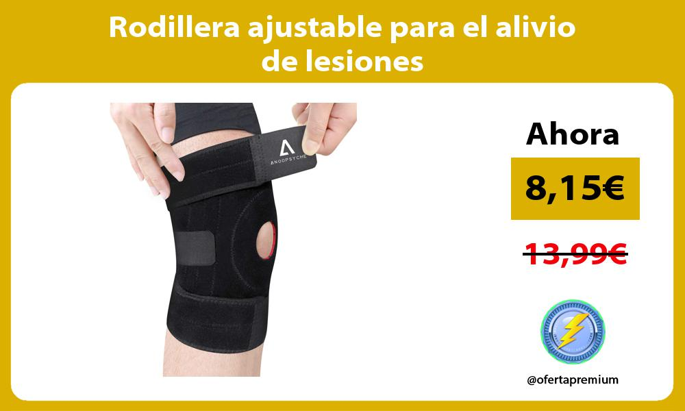 Rodillera ajustable para el alivio de lesiones