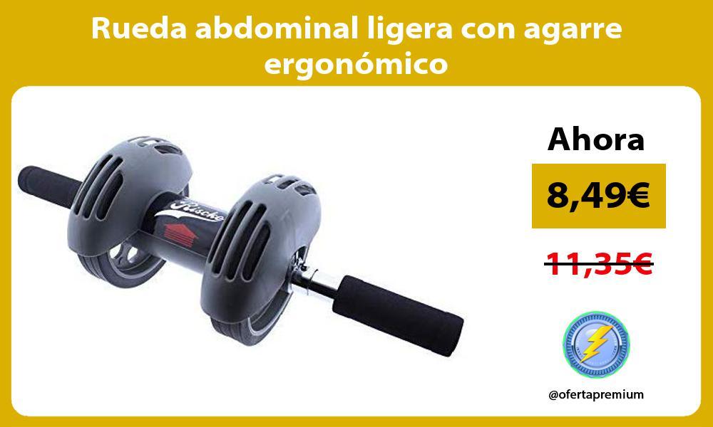 Rueda abdominal ligera con agarre ergonómico