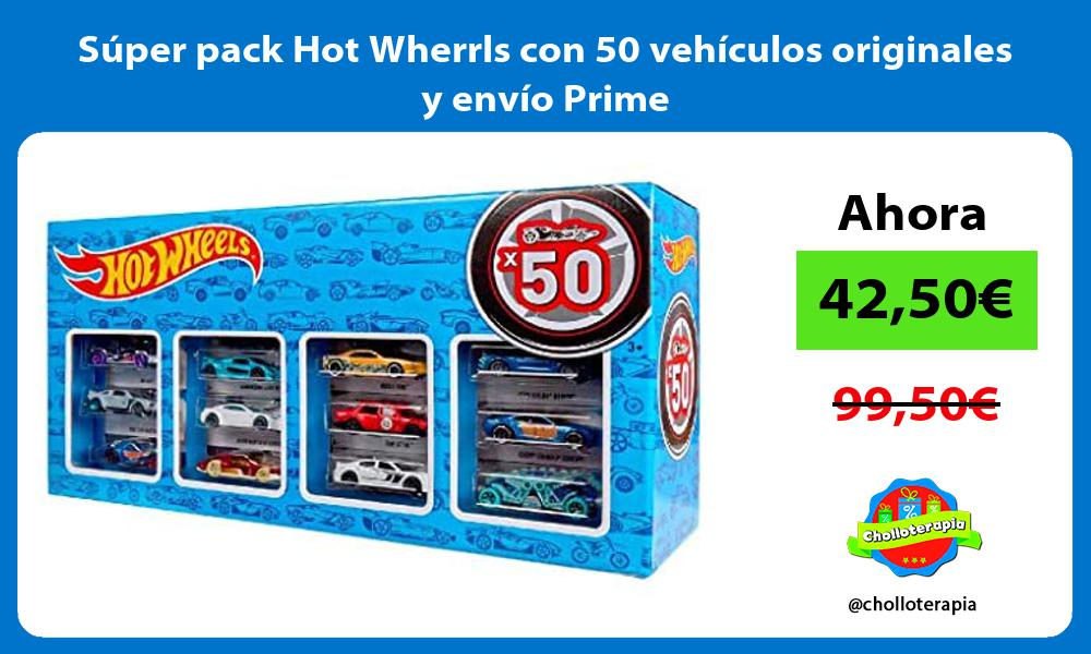 Súper pack Hot Wherrls con 50 vehículos originales y envío Prime