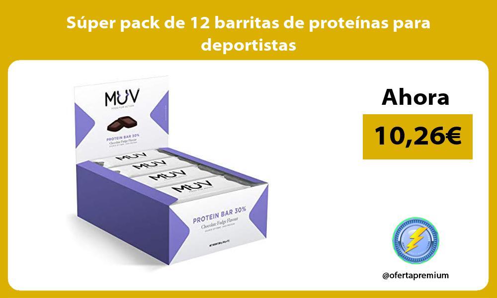 Súper pack de 12 barritas de proteínas para deportistas