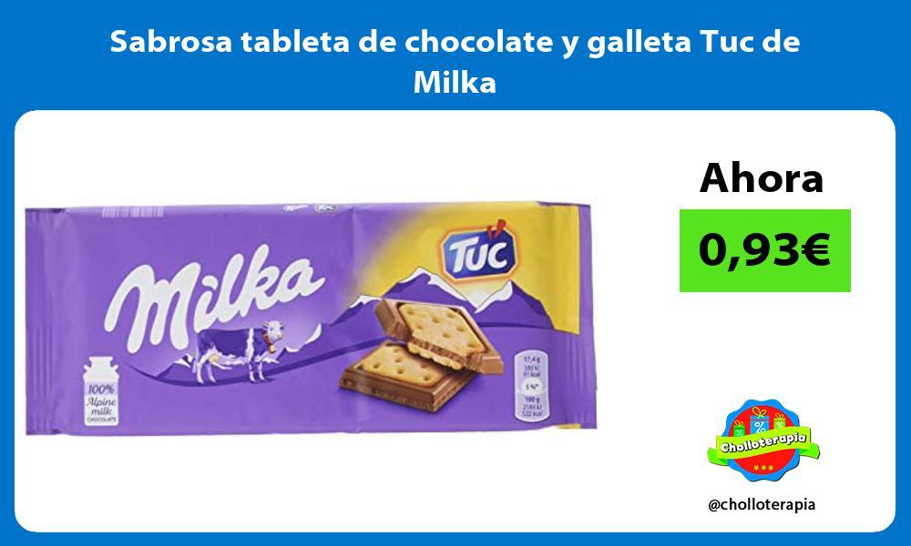 Sabrosa tableta de chocolate y galleta Tuc de Milka