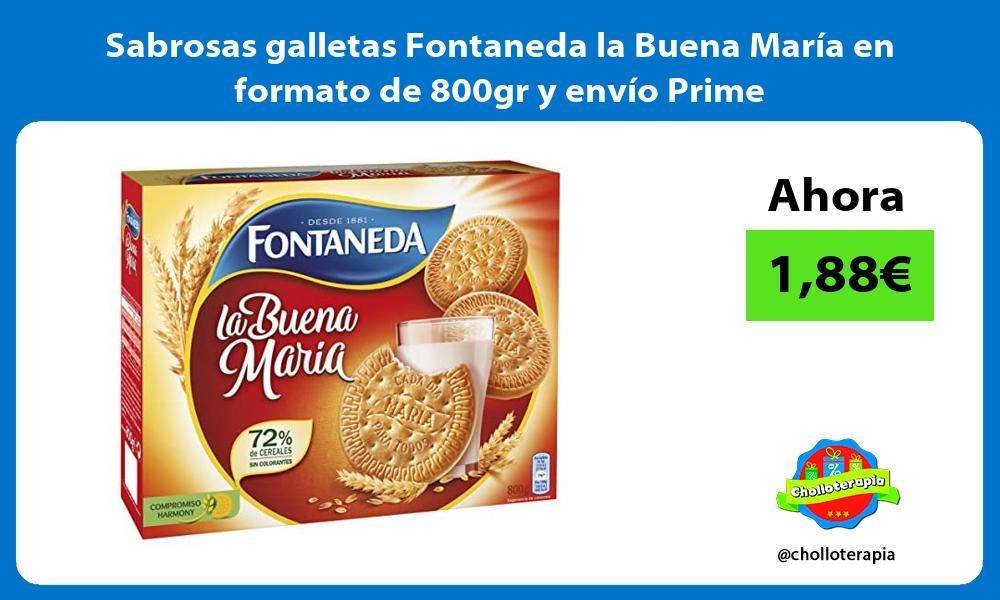 Sabrosas galletas Fontaneda la Buena María en formato de 800gr y envío Prime