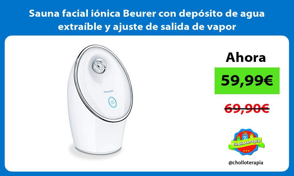 Sauna facial iónica Beurer con depósito de agua extraíble y ajuste de salida de vapor