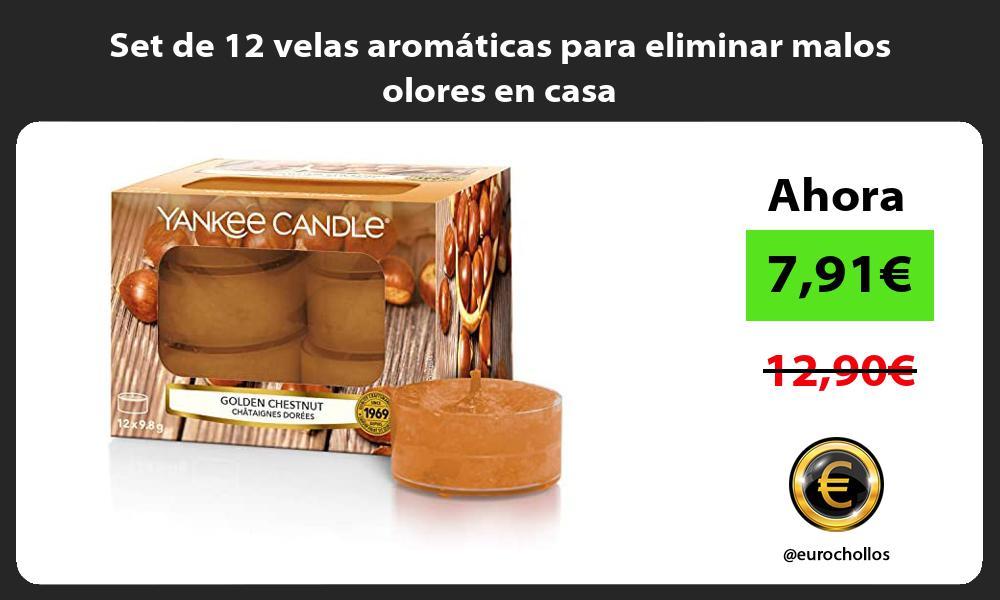 Set de 12 velas aromáticas para eliminar malos olores en casa