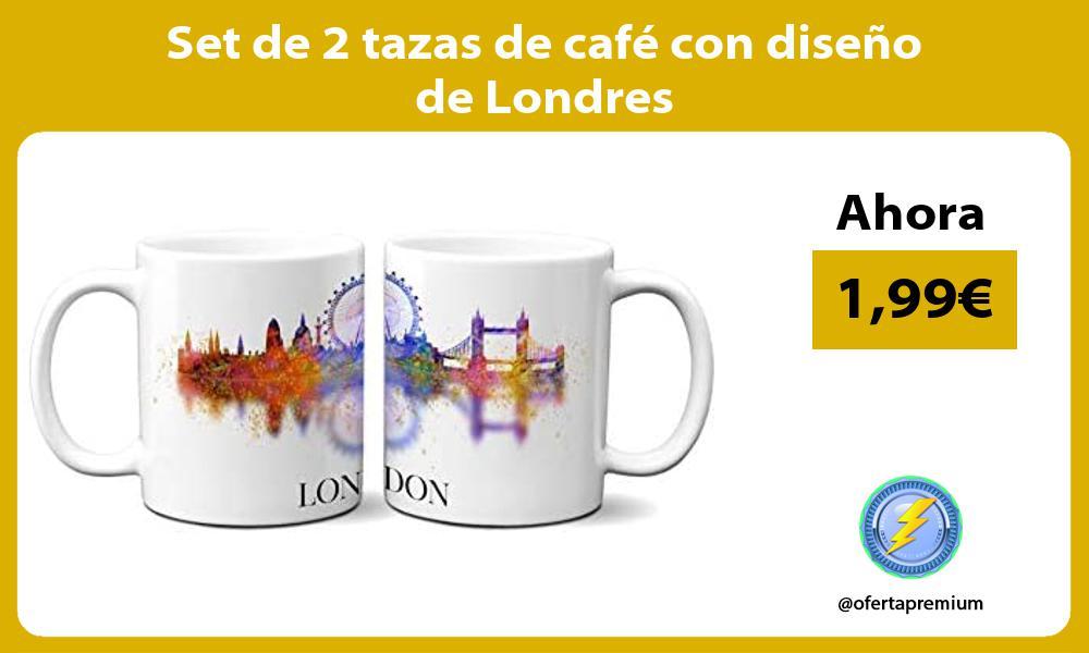 Set de 2 tazas de café con diseño de Londres