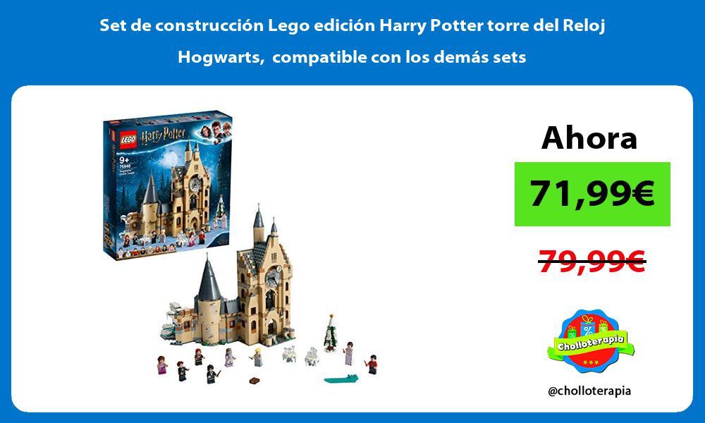 Set de construcción Lego edición Harry Potter torre del Reloj Hogwarts compatible con los demás sets
