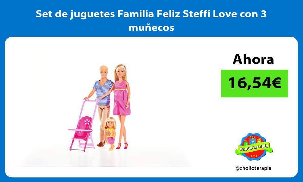 Set de juguetes Familia Feliz Steffi Love con 3 muñecos