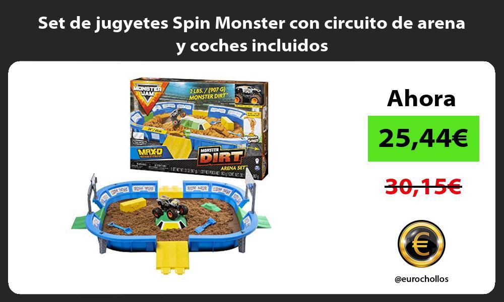 Set de jugyetes Spin Monster con circuito de arena y coches incluidos