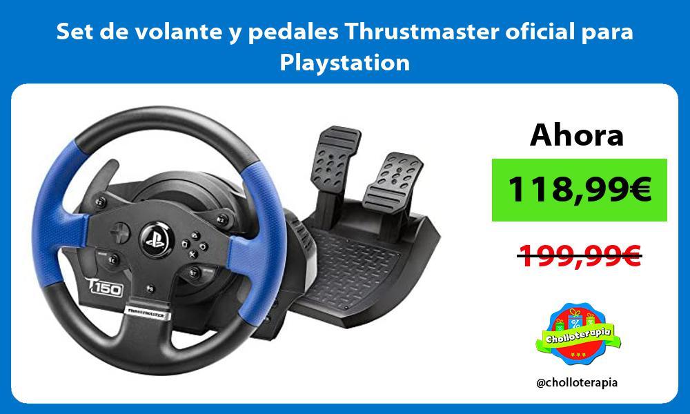 Set de volante y pedales Thrustmaster oficial para Playstation