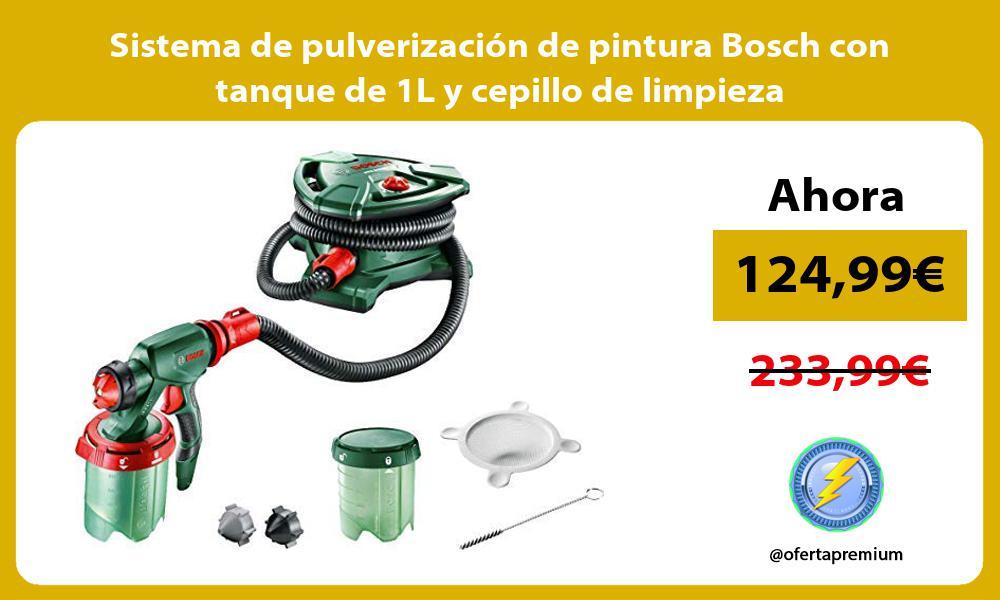 Sistema de pulverización de pintura Bosch con tanque de 1L y cepillo de limpieza