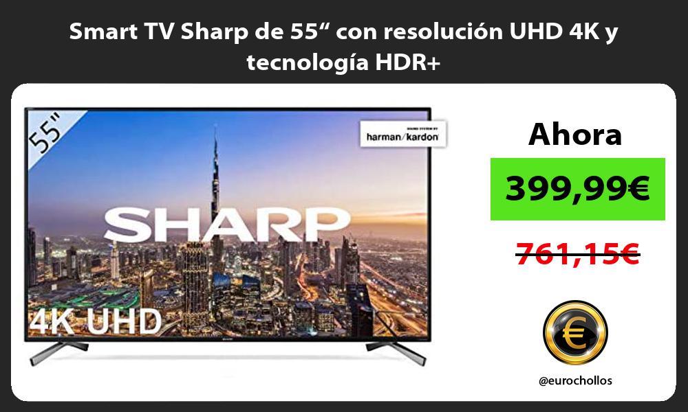 """Smart TV Sharp de 55"""" con resolución UHD 4K y tecnología HDR"""