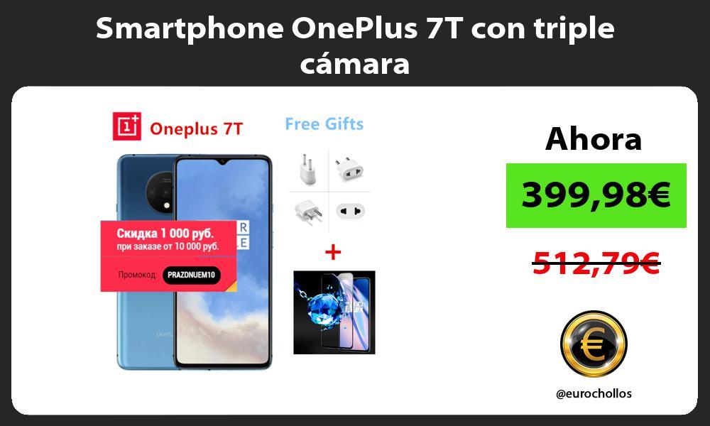 Smartphone OnePlus 7T con triple cámara