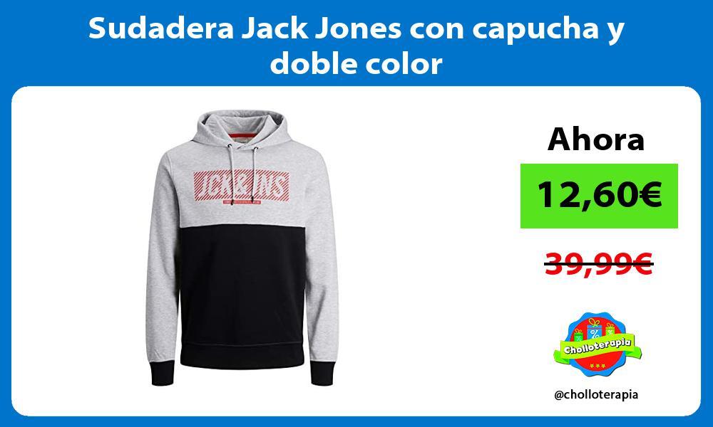 Sudadera Jack Jones con capucha y doble color