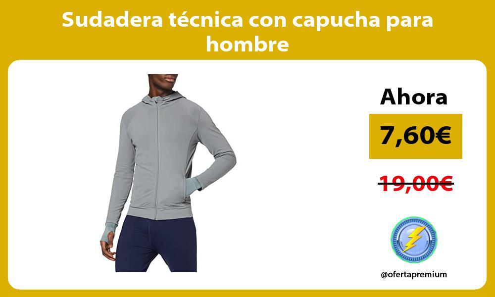 Sudadera técnica con capucha para hombre