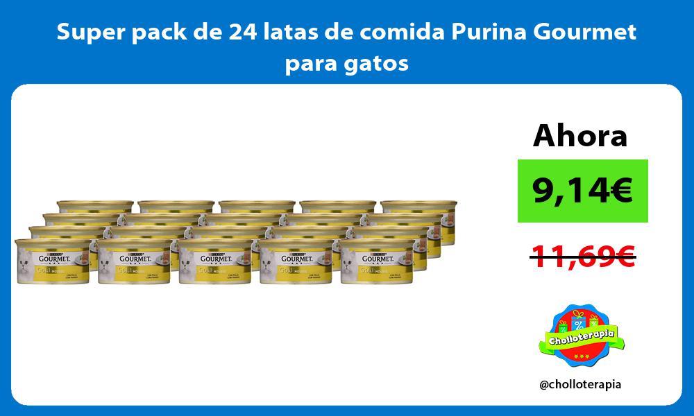 Super pack de 24 latas de comida Purina Gourmet para gatos