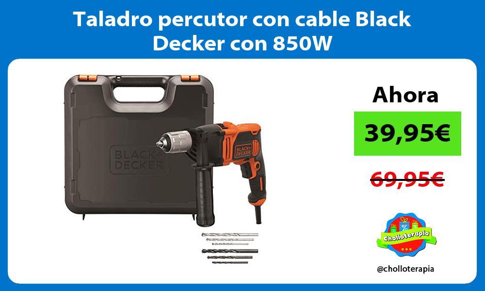 Taladro percutor con cable Black Decker con 850W