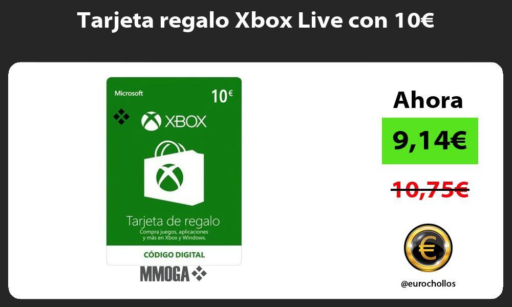 Tarjeta regalo Xbox Live con 10€