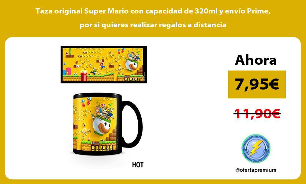 Taza original Super Mario con capacidad de 320ml y envío Prime por si quieres realizar regalos a distancia