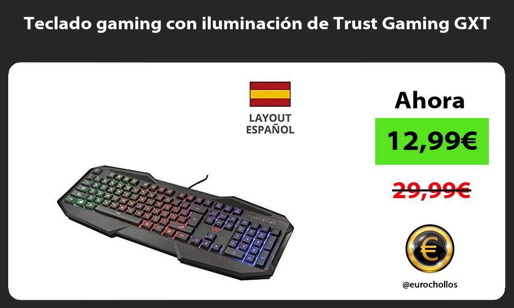 Teclado gaming con iluminación de Trust Gaming GXT