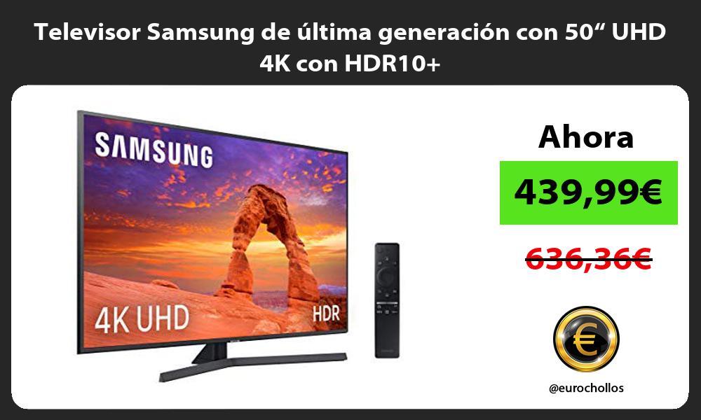 """Televisor Samsung de última generación con 50"""" UHD 4K con HDR10"""