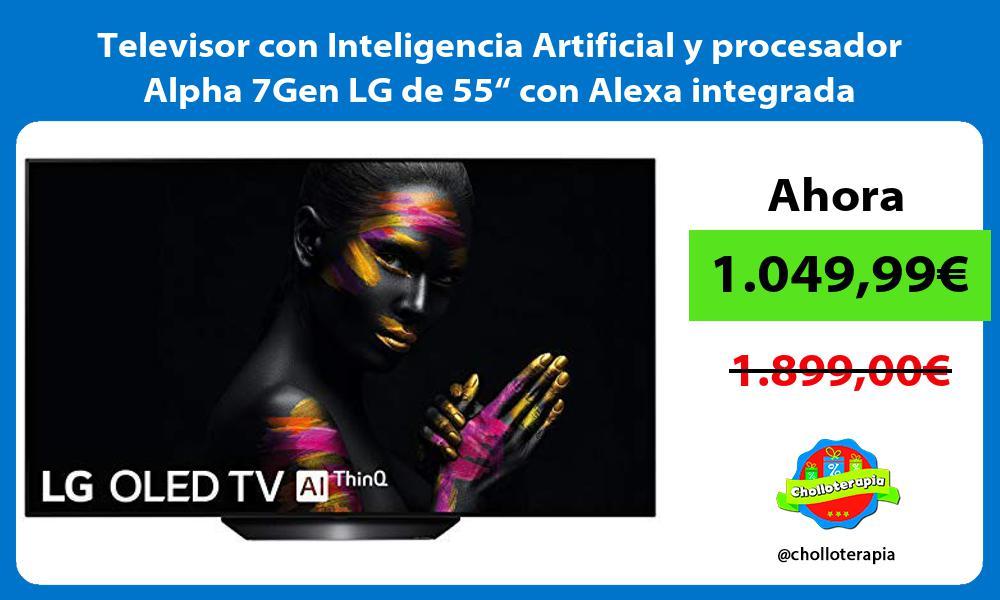 """Televisor con Inteligencia Artificial y procesador Alpha 7Gen LG de 55"""" con Alexa integrada"""
