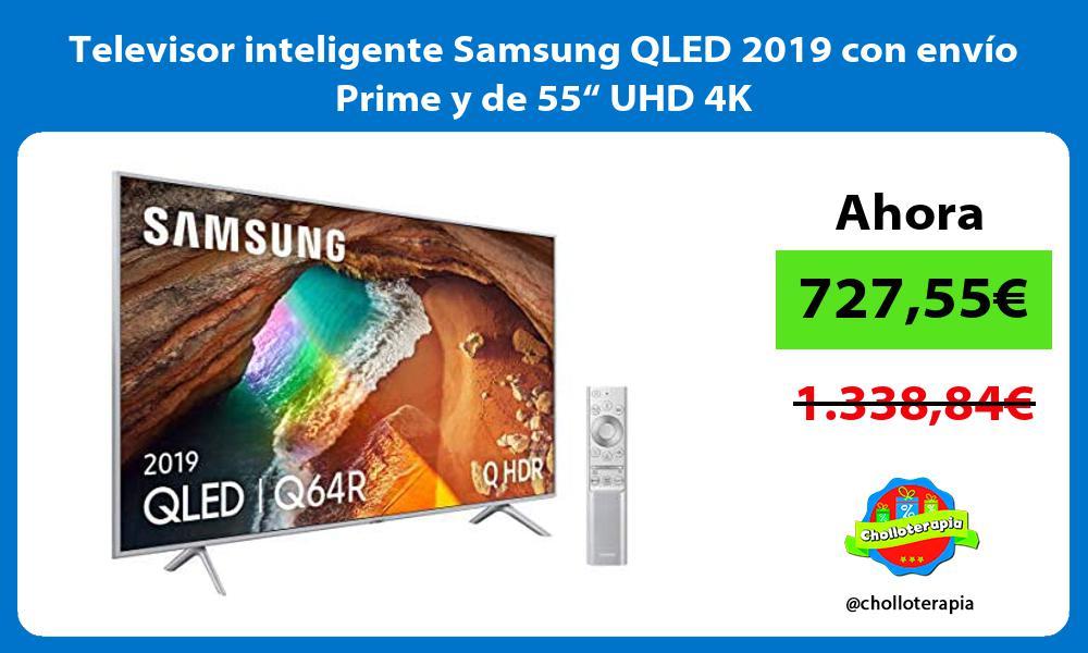 """Televisor inteligente Samsung QLED 2019 con envío Prime y de 55"""" UHD 4K"""