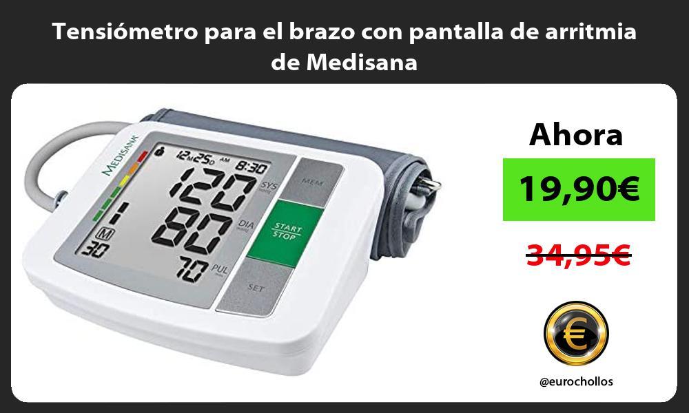Tensiómetro para el brazo con pantalla de arritmia de Medisana