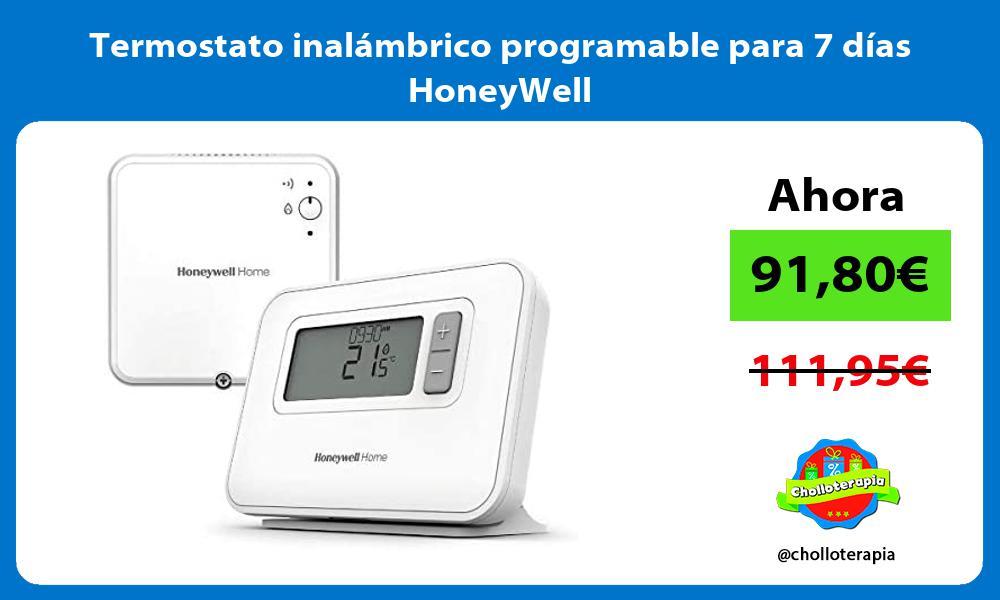 Termostato inalámbrico programable para 7 días HoneyWell